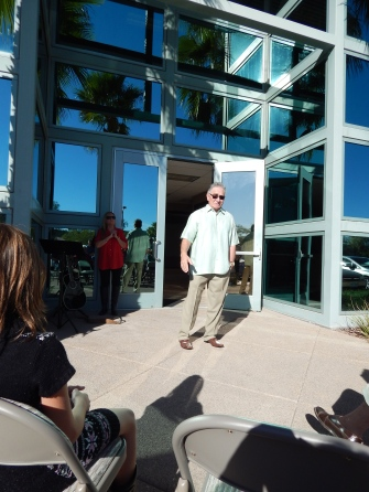 Pastor Roybal welcoming us